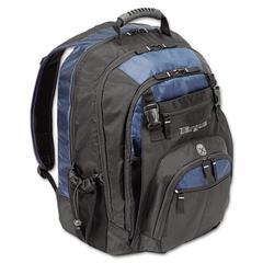 """XL Laptop Backpack 17"""", Black/Blue"""