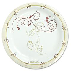 """SOLO Cup Company Symphony Paper Dinnerware, Mediumweight Plate, 6"""", Tan, 125/Pack"""