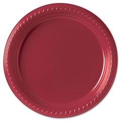 "Plastic Plates, 9"", Red, 25/Pack"