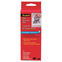 """Precut Removable Mounting Tabs, Double-Sided, 1/2"""" x 3/4"""", 144/Pack"""