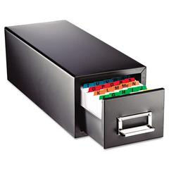 Steelmaster Drawer Card Cabinet Holds 1,500 5 x 8 cards, 9 7/8 x 18 1/8 x 9