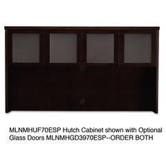 Mayline Mira Series Veneer Assembled Hutch Frame, 72w x 14d x 39h, Espresso