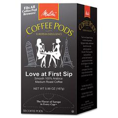 Melitta Coffee Pods, Love at First Sip (Medium Roast), 18 Pods/Box
