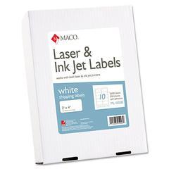 White Laser/Inkjet Shipping & Address Labels, 2 x 4, 2500/Box