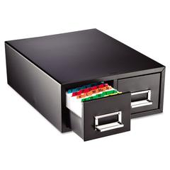 """Steelmaster Drawer Card Cabinet Holds 3,000 5 x 8 cards, 18 2/5"""" x 16"""" x 7 1/4"""""""
