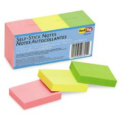 Self-Stick Notes, 1 1/2 x 2, Neon, 12 100-Sheet Pads/Pack