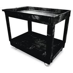 Service/Utility Cart, Two-Shelf, 24w x 40d x 31-1/4h, Black