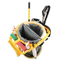 Rubbermaid Commercial Deluxe Rim Caddy, 28 1/2 x 39 1/8, Yellow