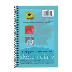 Pacon Art1st Sketch Diary, 9 x 6, White, 70 Sheets