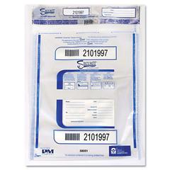 PM Company Securit Triple Protection Tamper-Evident Deposit Bags, 20 x 24, Clear, 50/Pack