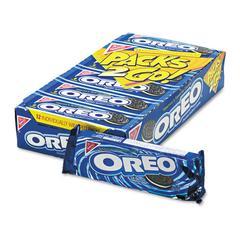 Nabisco Oreo Cookies, Chocolate w/Cream Center, 6 Cookie Pack, 12 Packs/Box