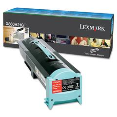 Lexmark X860H21G High-Yield Toner, 35,000 Page Yield, Black