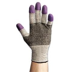 Jackson Safety* G60 Purple Nitrile Gloves, Large/Size 9, Black/White, Pair