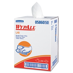 """WypAll* L40 DRY-UP Professional Towels, 19 1/2"""" x 42"""", White, 200 Towels/Roll"""