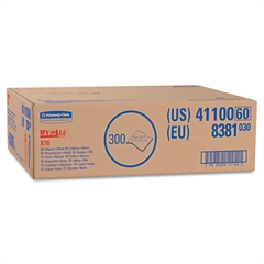 WypAll* X70 Wipers, Flat Sheet, 9 x 16 3/5, White, 300/Carton