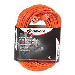 Innovera Indoor/Outdoor Extension Cord, 100ft, Orange