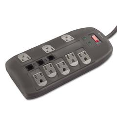 Surge Protector, 8 Outlets, 6 ft Cord, 2160 Joules, Black