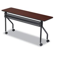 Iceberg OfficeWorks Mobile Training Table, 60w x 18d x 29h, Mahogany/Black