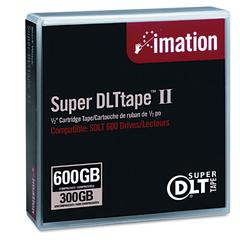 "imation 1/2"" Super DLT II Cartridge, 2066ft, 300GB Native/600GB Comp. Cap"