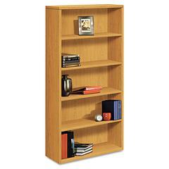 10500 Series Laminate Bookcase, Five-Shelf, 36w x 13-1/8d x 71h, Harvest