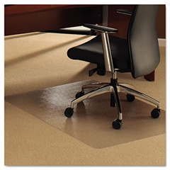 Cleartex Ultimat Chair Mat for Plush Pile Carpets, 35 x 47, Clear