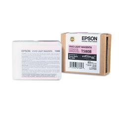 Epson T580B00 UltraChrome K3 Ink, Vivid Light Magenta