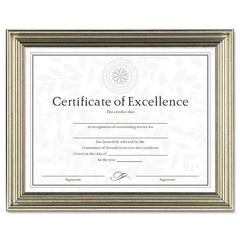 DAX Antique Colored Document Frame w/Certificate, Plastic, 8 1/2 x 11, Bronze