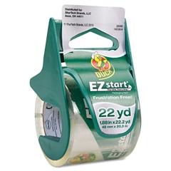 """Duck EZ Start Carton Sealing Tape/Dispenser, 1.88"""" x 22.2yds, 1 1/2"""" Core"""