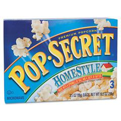 Pop Secret Microwave Popcorn, Homestyle, 3.5oz Bags, 3/Box