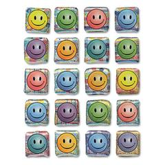 Creativity Street Peel and Stick Gemstone Stickers, Smiley Face, 20/Pack