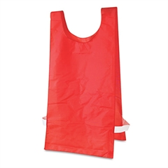 Champion Sports Heavyweight Pinnies, Nylon, One Size, Red, 12/Box