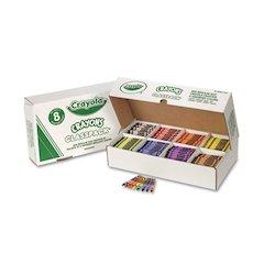 Classpack Regular Crayons, 8 Colors, 800/BX