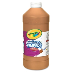 Crayola Artista II Washable Tempera Paint, Brown, 32 oz