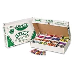 Crayola Classpack Regular Crayons, 16 Colors, 800/BX