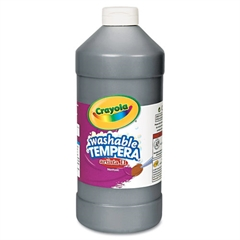 Crayola Artista II Washable Tempera Paint, Black, 32 oz