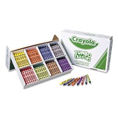 Jumbo Classpack Crayons, 25 Each of 8 Colors, 200/Set