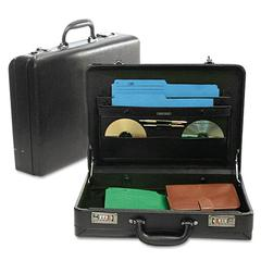Expandable Attaché Case, Koskin, 17-1/2 x 4-1/2 x 13, Black
