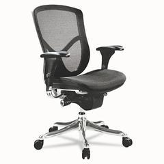 Alera Alera EQ Series Ergonomic Multifunction Mid-Back Mesh Chair, Aluminum Base