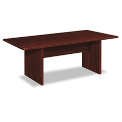 basyx BL Laminate Series Rectangular Conference Table, 72w x 36d x 29 1/2h, Mahogany