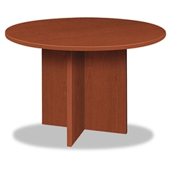 basyx BL Laminate Series Round Conference Table, 48 dia. X 29 1/2h, Medium Cherry