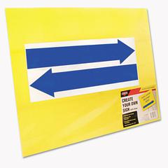 Cosco Stake Sign, Blank, Yellow, Includes Directional Arrows, 15 x 19
