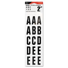 """Cosco Letters, Numbers & Symbols, Adhesive, 2"""", Black"""
