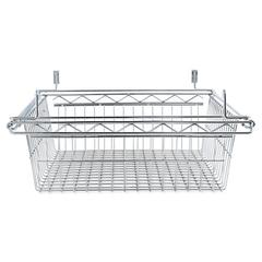 Alera Sliding Wire Basket For Wire Shelving, 18w x 24d x 8h, Silver