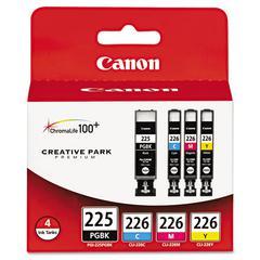 Canon 4530B008AA (PGI-225, CLI-226) Ink, Cyan/Magenta/Pigment Black/Yellow, 4/PK