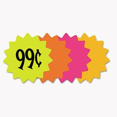 """Cosco Die Cut Paper Signs, 4"""" Round, Assorted Colors, Pack of 60 Each"""
