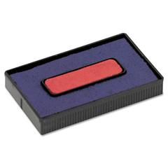 Cosco Felt Replacement Ink Pad for 2000PLUS Economy Message Dater, Red/Blue