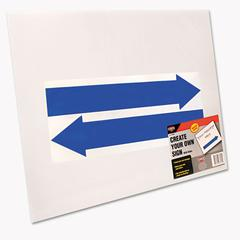 Cosco Stake Sign, Blank White, Includes Directional Arrows,  15 x 19