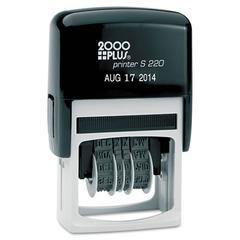COSCO 2000PLUS Economy Dater, Self-Inking, Black