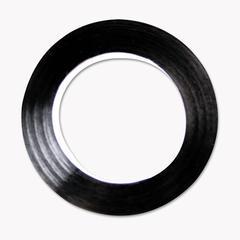 "Cosco Art Tape, Black Gloss, 1/4"" x 324"""