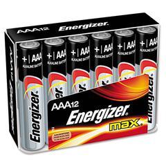 Energizer MAX Alkaline Batteries, AAA, 12 Batteries/Pack